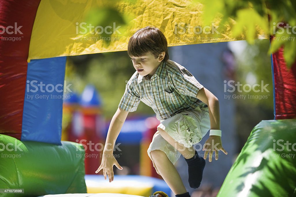 Bouncing Game stock photo