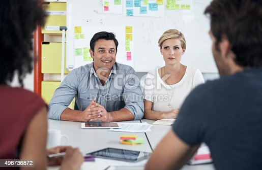 491244494 istock photo Bouncing ideas off of each other 496736872