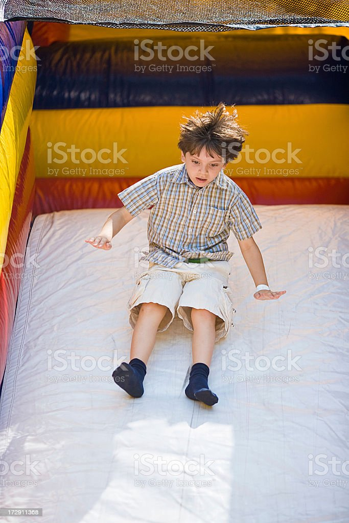 Bouncing Inflatable Slide royalty-free stock photo