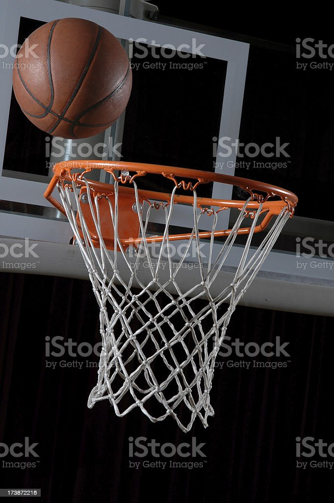 Bouncing on the Rim royalty-free stock photo
