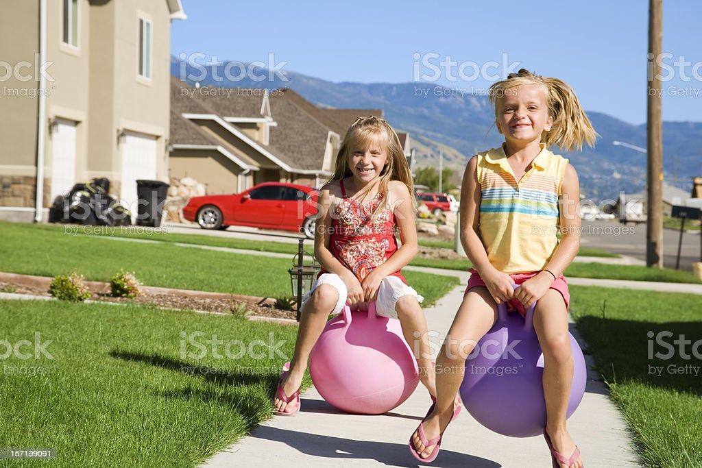 Bouncing Through The Neighborhood stock photo
