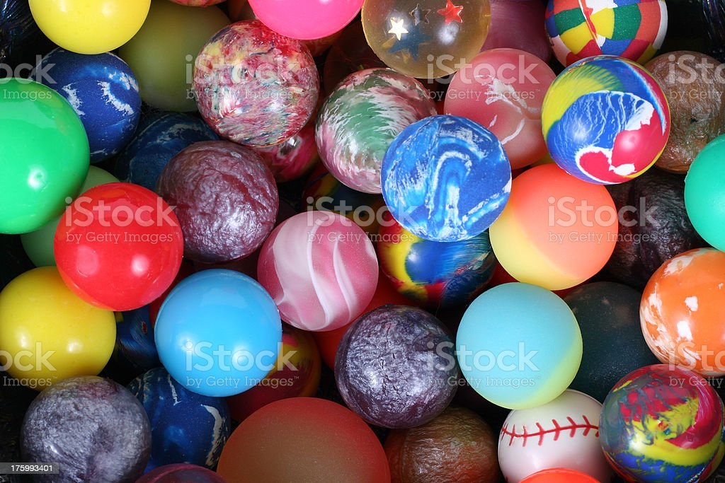 Bouncy Balls stock photo