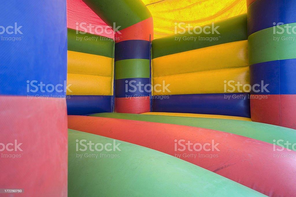 bouncy castle stock photo