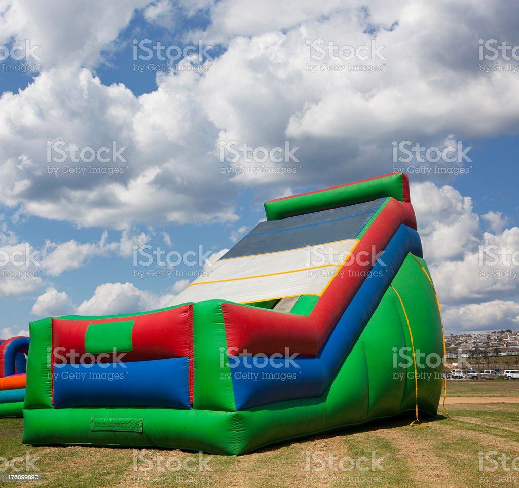Bouncy Castle Slide royalty-free stock photo