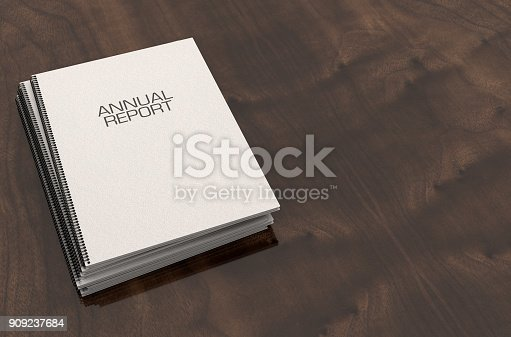 istock Bound Annual Report Booklet Pile 909237684
