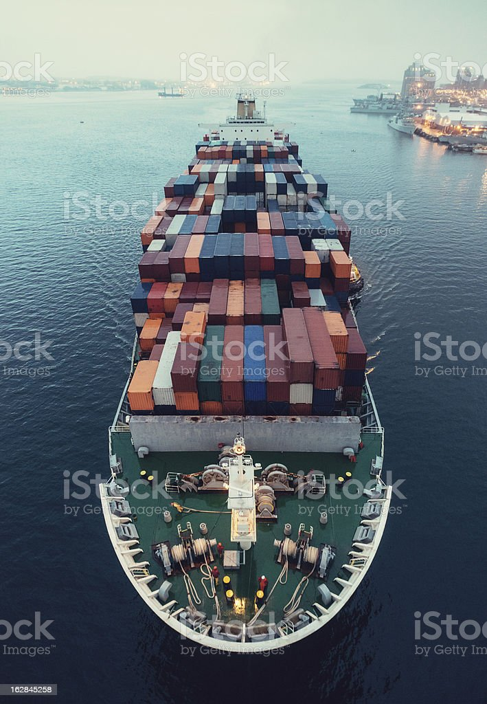 Bound for Port royalty-free stock photo