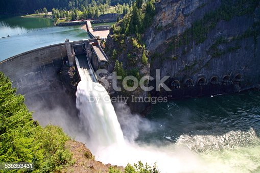 Boundary Dam is a concrete arch gravity-type hydroelectric dam on the Pend Oreille River, in the U.S. state of Washington. The dam is located in the northeast corner of Washington state, just south of the border with British Columbia, Canada