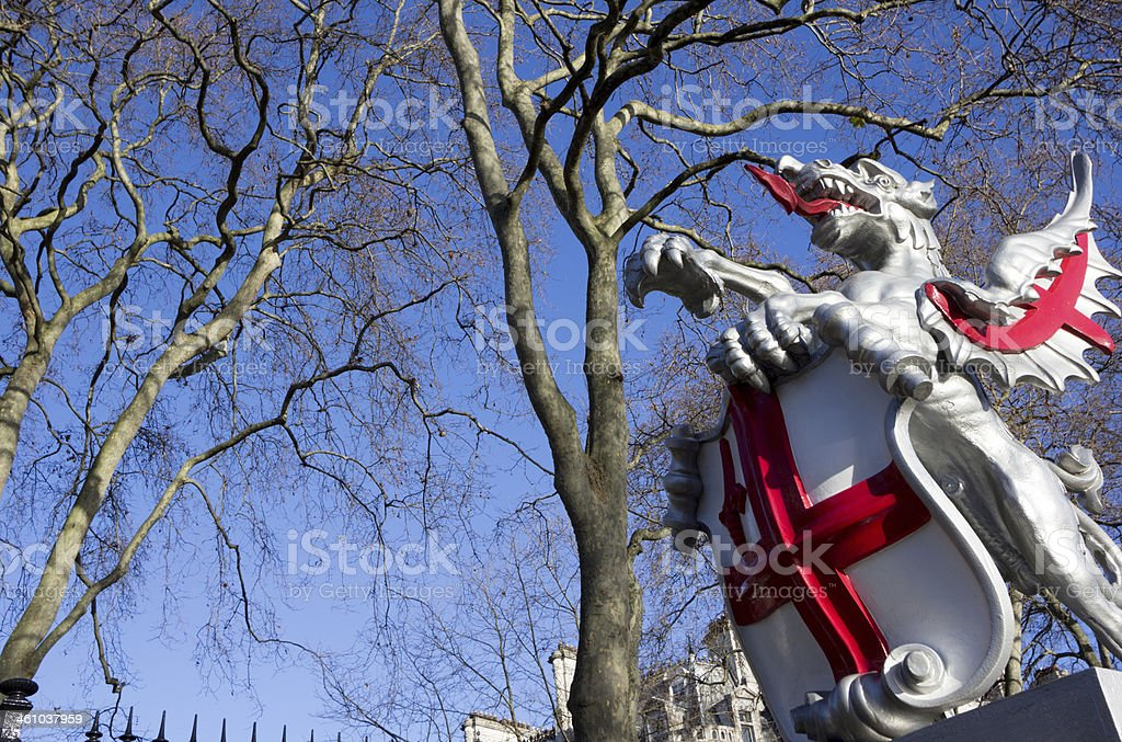 Boundary Dragon on Victoria Embankment, London stock photo