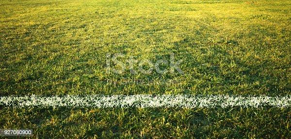 istock A boundary line on a soccer field 927060900