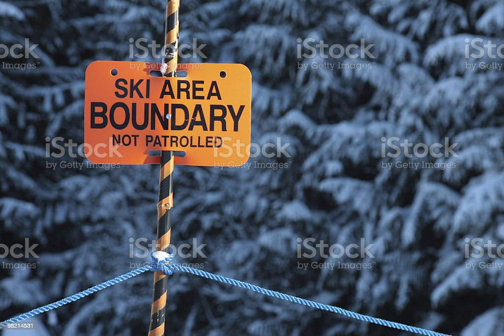Boundary royalty-free stock photo