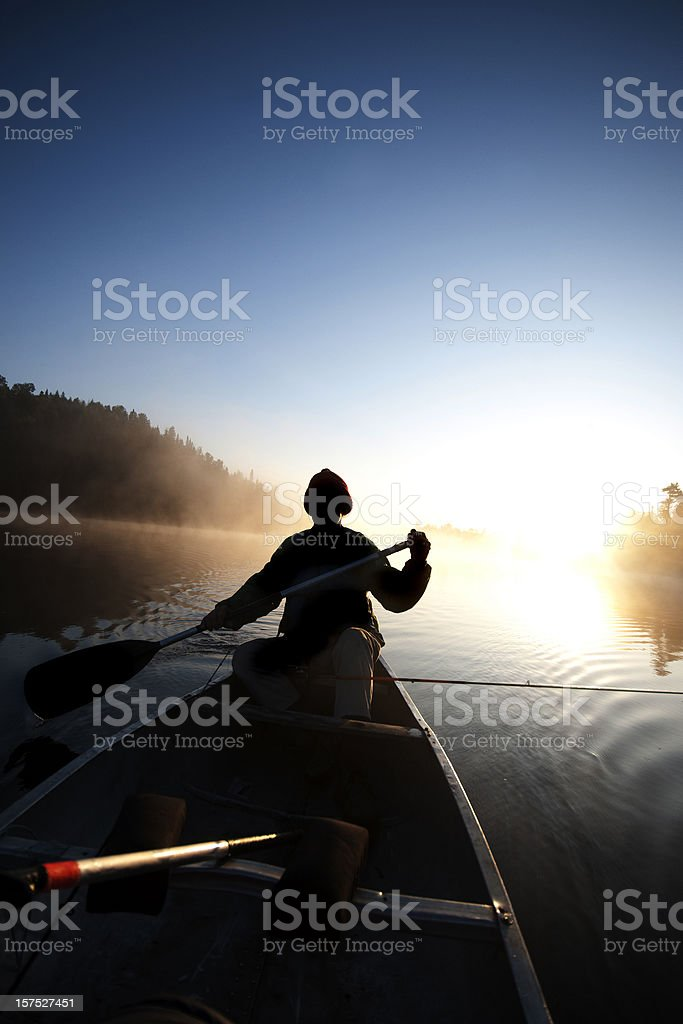 Boundary Waters Canoe Area Wilderness, sunrise. royalty-free stock photo