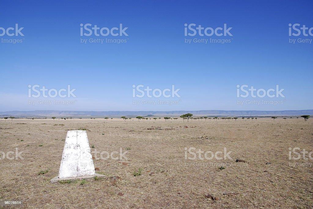 boundary without fences, left side Tanzania, right Kenia royalty-free stock photo