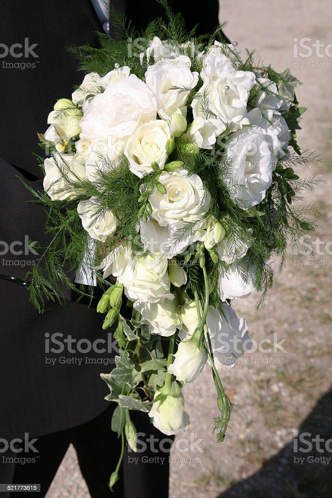 Bouquet blanc de mariée stock photo