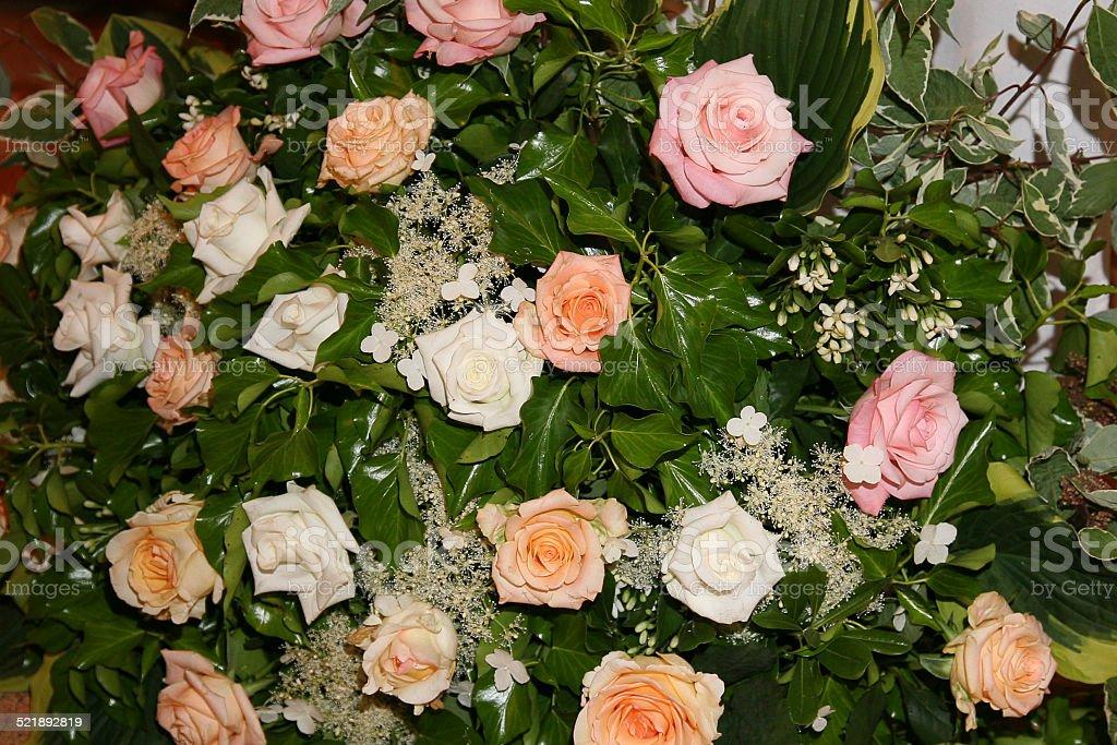 Bouquet blanc et rose stock photo