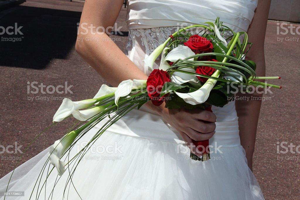 Bouquet blanc et rouge stock photo