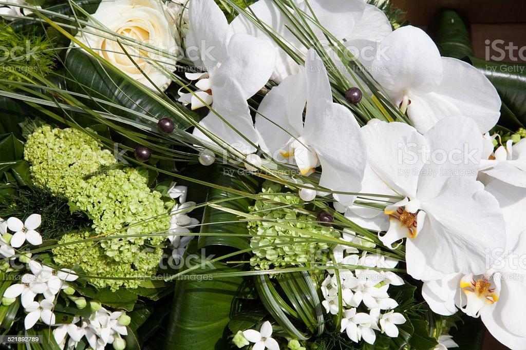 Bouquet blanc orchidée stock photo