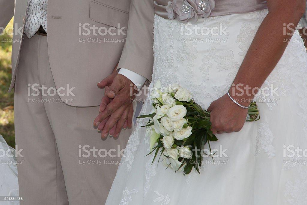 Bouquet blanc stock photo