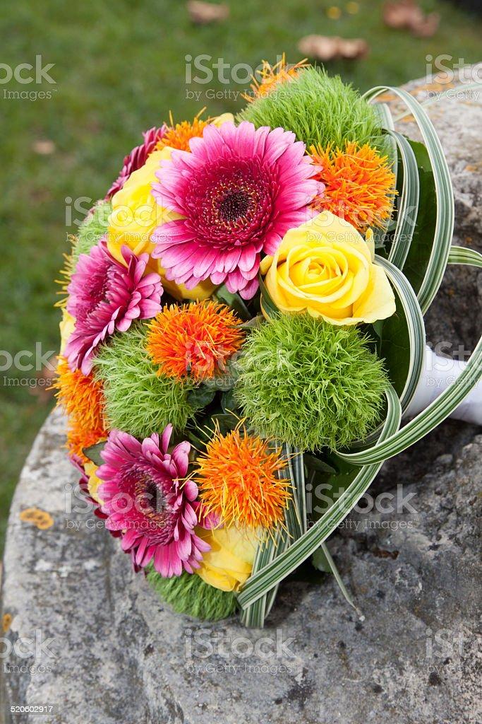 Bouquet de la mariée stock photo