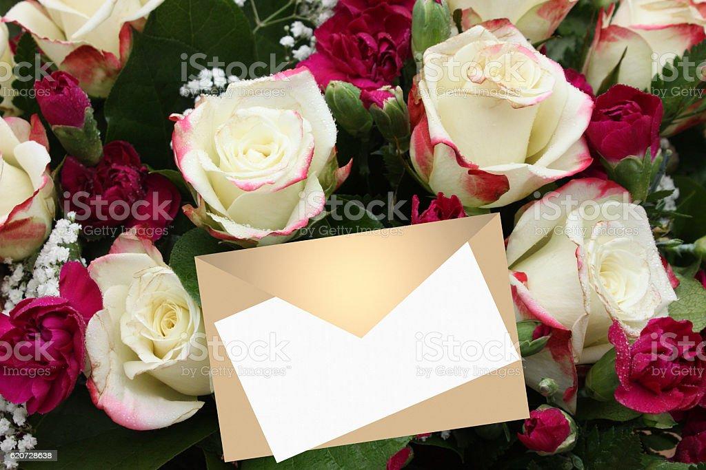 Bouquet De Roses Blanches Faire Part Stock Photo More Pictures Of