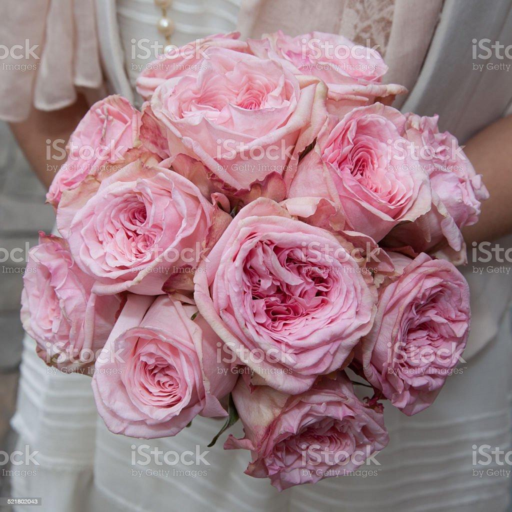 Bouquet de roses vieux rose stock photo