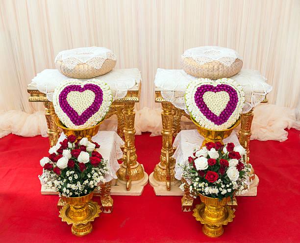 bouquet Dekoration für hand gießen in thai-Hochzeit – Foto