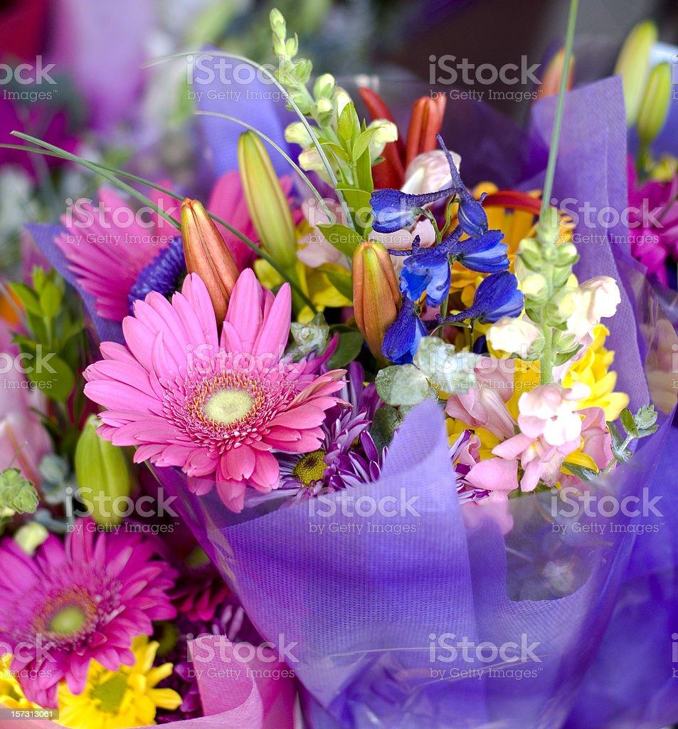 Bouquet Flower Arrangement Gift, Bunch of Assorted Spring Pink Flowers