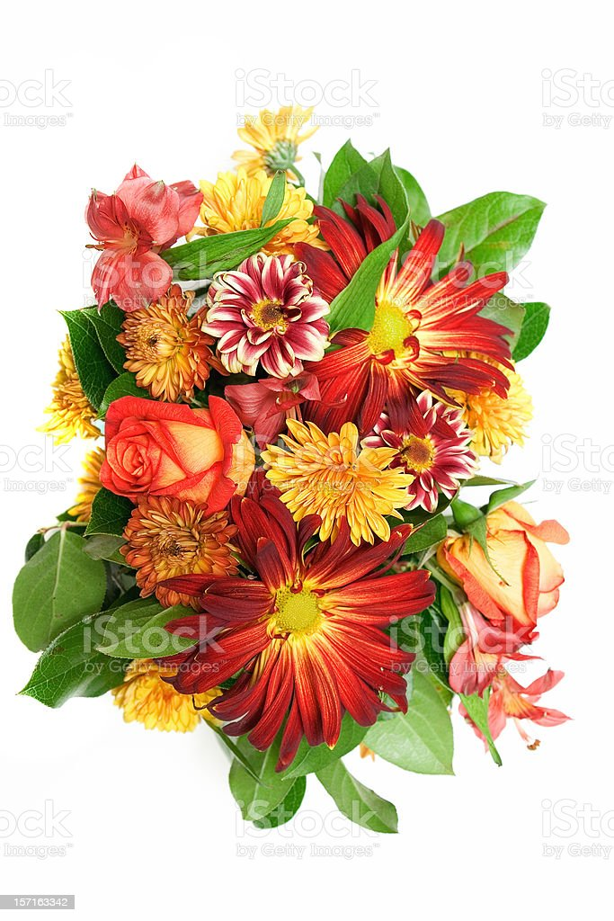 Bouquet from above royalty-free stock photo