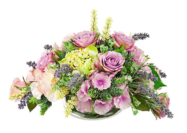 bouquet from artificial flowers. - flower bouquet blue and white bildbanksfoton och bilder