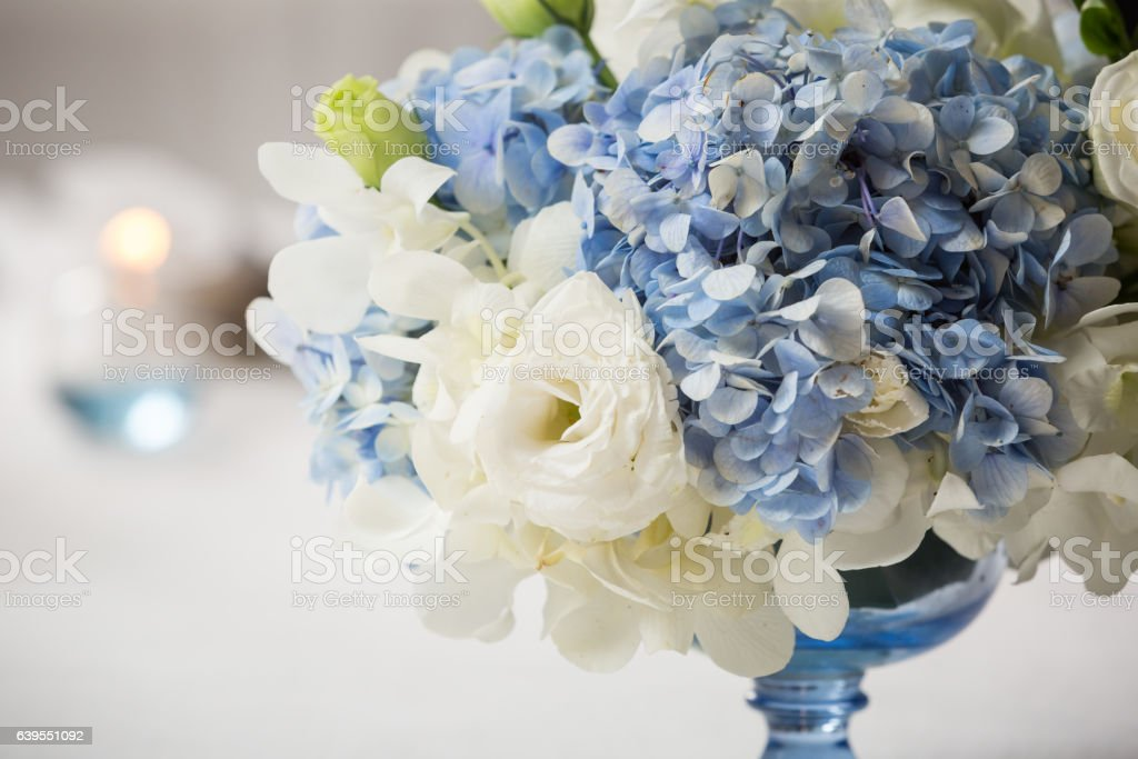 bouquet in vase stock photo
