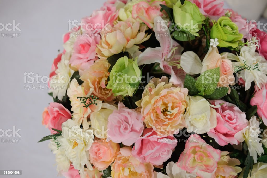 Bouquet Of Artificial Many Flower Decoration In Home