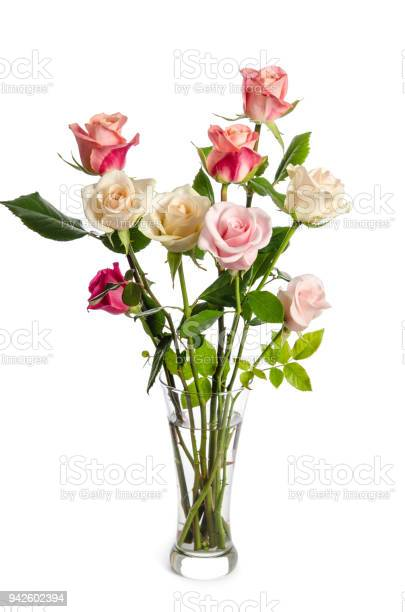 Bouquet of beauty roses in glass vase isolated on white background picture id942602394?b=1&k=6&m=942602394&s=612x612&h=f6gqdevsb9kirjhkj747c4js0dnoyxg3jbewvlb2pbe=