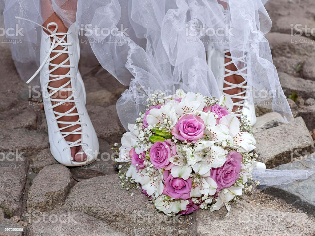 bouquet of bride royalty-free stock photo