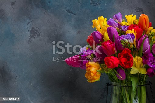 istock bouquet of bright spring flowers 655489348