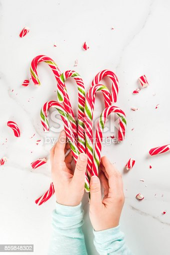1059144984 istock photo Bouquet of Christmas candy canes 859848302
