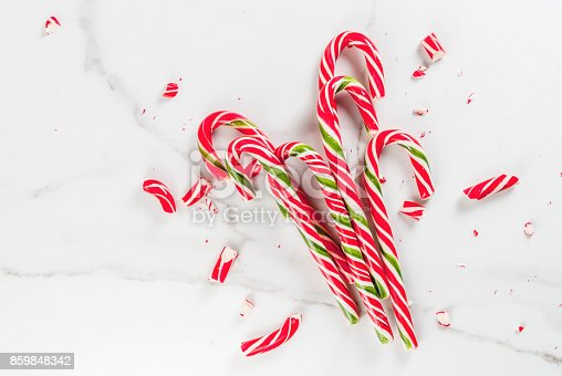 istock Bouquet of Christmas candy canes 859848342