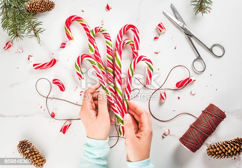 1059144984 istock photo Bouquet of Christmas candy canes 859848360