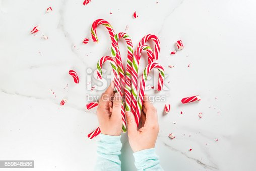 1059144984 istock photo Bouquet of Christmas candy canes 859848586