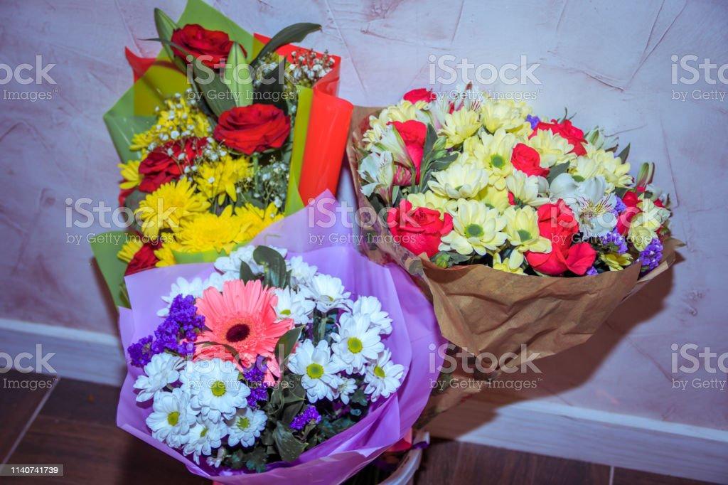 Photo Libre De Droit De Un Bouquet De Fleurs Pour Les