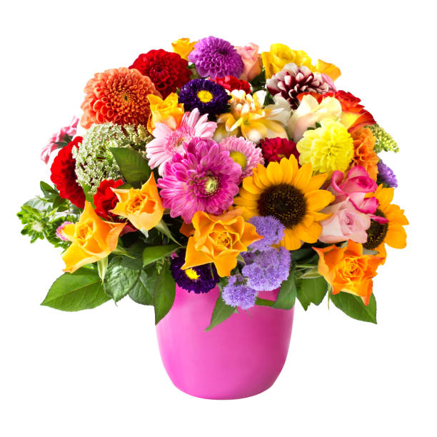 bouquet of flowers - vase stock pictures, royalty-free photos & images