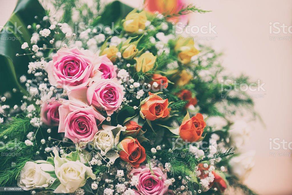 Bouquet of flowers. Selective focus stock photo