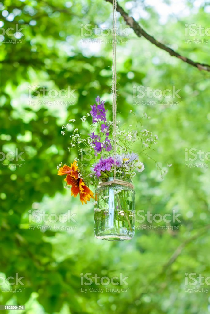 bouquet of flowers with a bank royalty-free stock photo