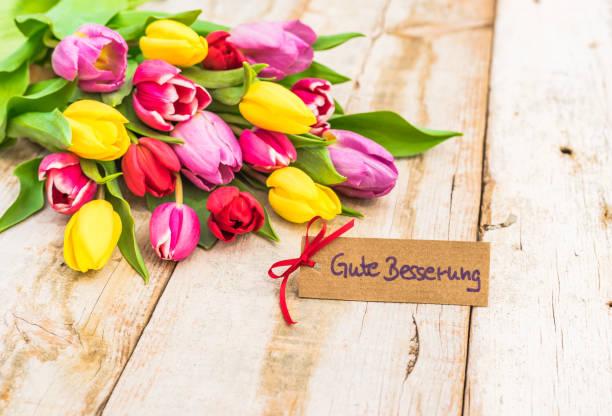 Bouquet de fleurs à obtenir bien carte - Photo