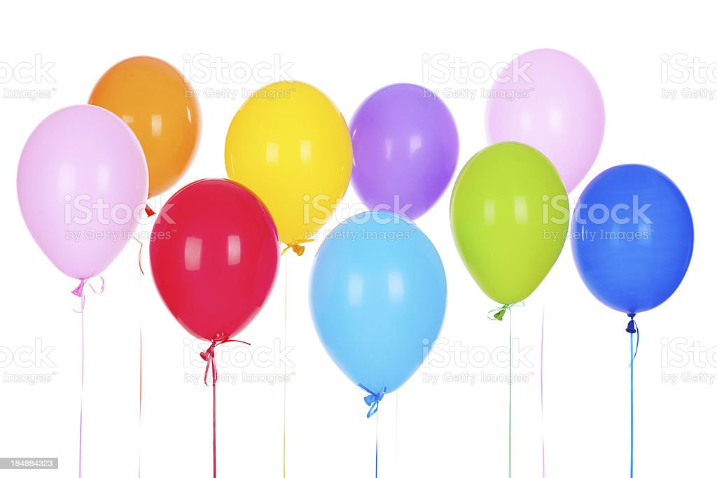 Bouquet of multicolored baloons royalty-free stock photo