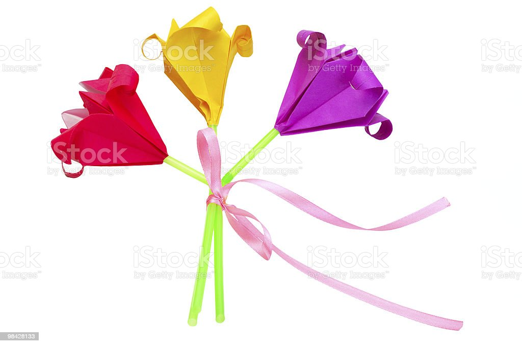 Bouquet di fiori di carta foto stock royalty-free