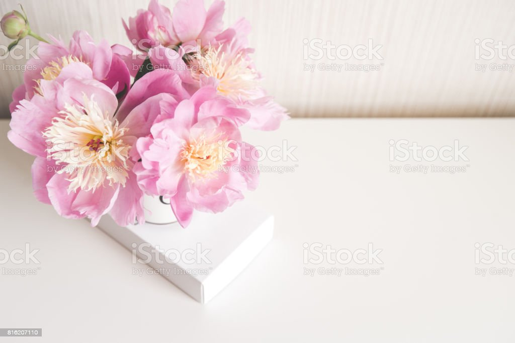 Bouquet Of Peonies Photo In Gentle Colors Good Morning Have A Nice