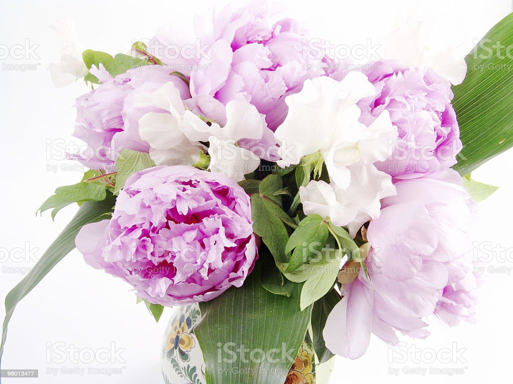 bouquet of peonies royalty-free stock photo