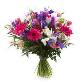 istock A bouquet of pink and purple flowers 155150763