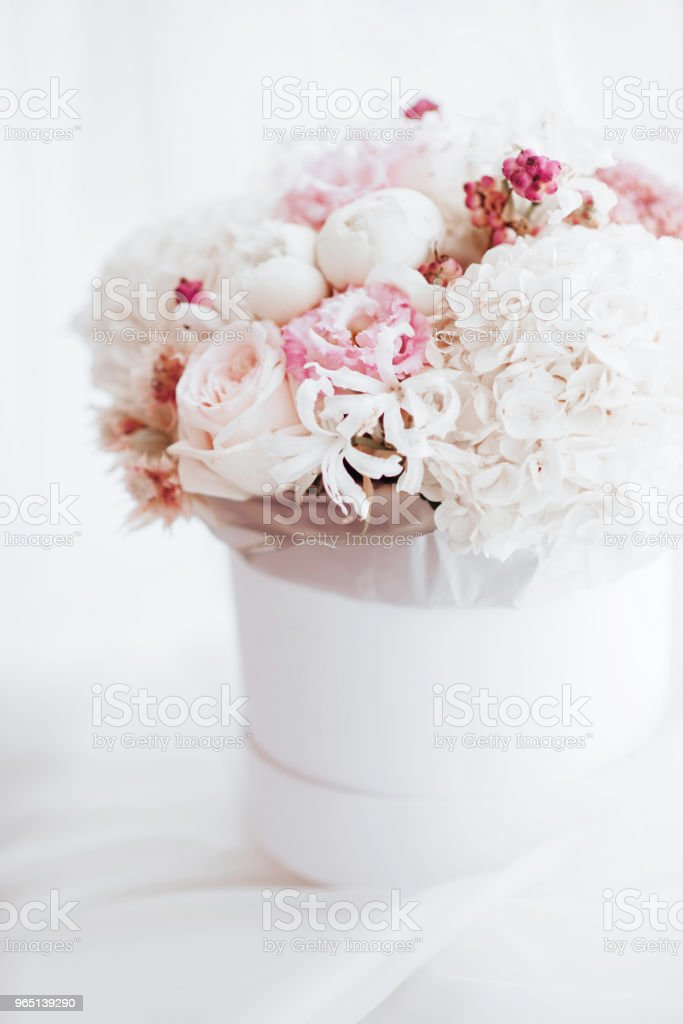 Bouquet of pink and white flowers. royalty-free stock photo