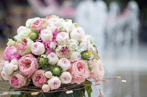 Bouquet of ranunculus flowers outdoors, Europe. Nikon D850.