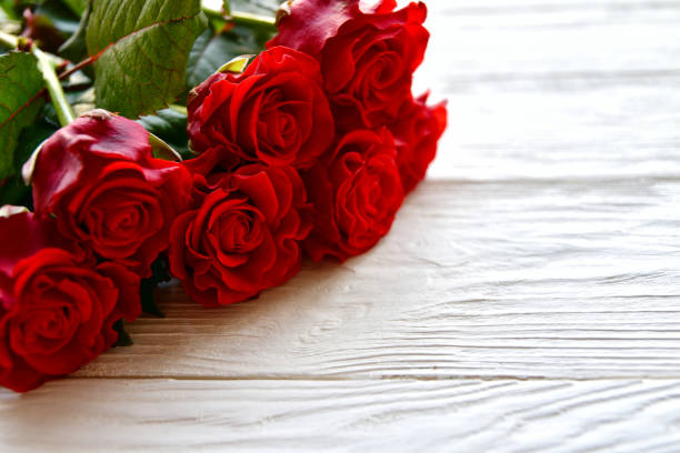 Bouquet of red roses and on a white wooden background st valentines picture id1199667185?b=1&k=6&m=1199667185&s=612x612&w=0&h=kahji7if1z5u9mqzbn7wl3yq vg8fcbejy4siyztr9y=